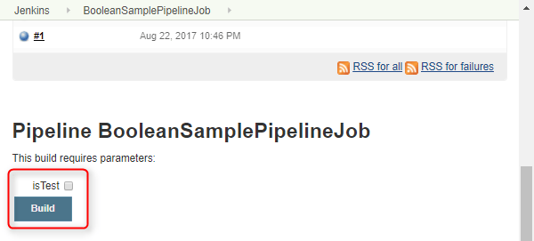 Jenkins - Pipeline Job 取用 Boolean 參數 - 執行