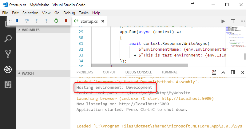[鐵人賽 Day16] ASP.NET Core 2 系列 - 多重環境組態管理 (Multiple Environments) - Visual Studio Code