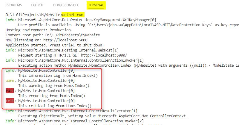 [鐵人賽 Day18] ASP.NET Core 2 系列 - Logging - Sample