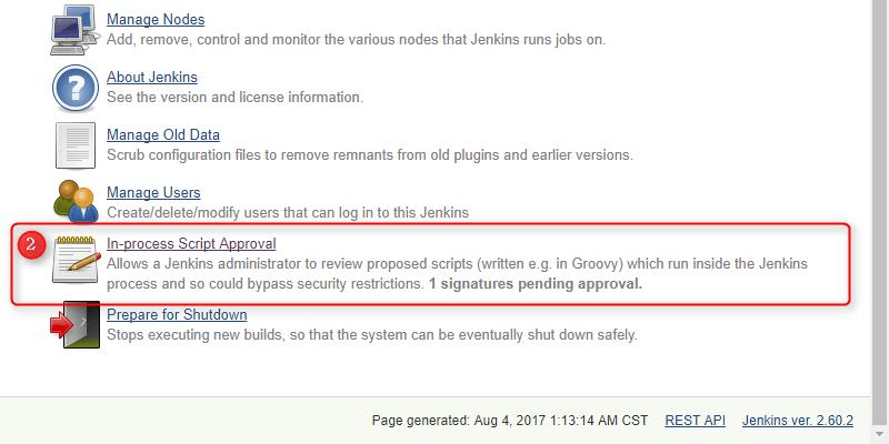 Jenkins - Groovy RejectedAccessException   John Wu's Blog